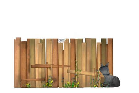 Idyllic garden fence Stock Photo - 12633374