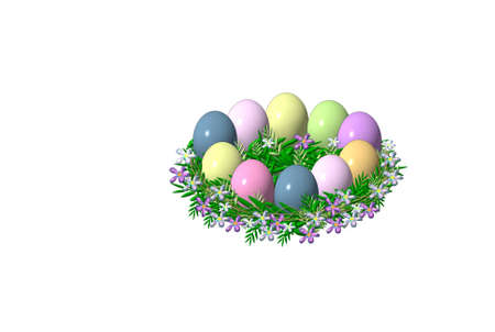 Easter table decoration wreath  Stock Photo - 12633380