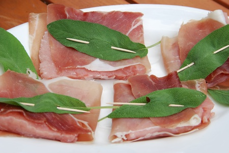 romana: saltimbocca alla romana specialty preparation Stock Photo