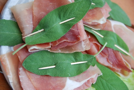 saltimbocca alla romana specialty preparation Stock Photo - 13553312