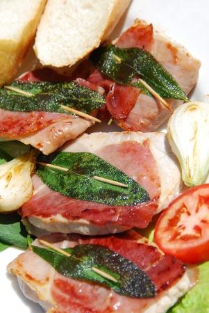 specialit�: saltimbocca alla romana la preparazione di specialit�
