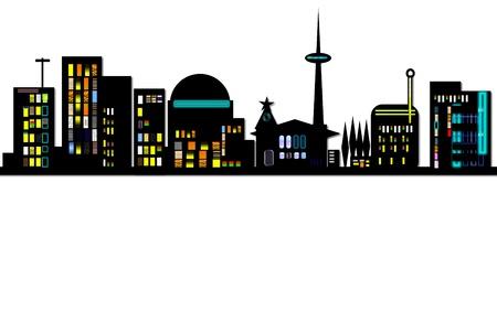 Cities Siluette Banner Cut photo