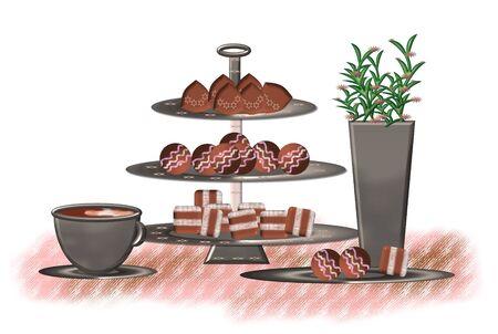 decoration of chocolates