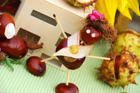 chestnut male: Crafts with natural material
