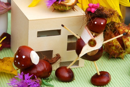 Crafts with natural material  Stock Photo - 15599199