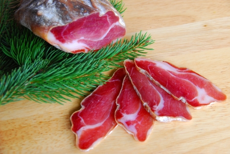 wild boar ham photo