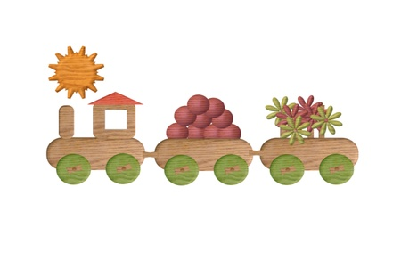 Railway toy Vector
