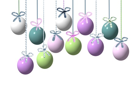 easter eggs ribbons Vector