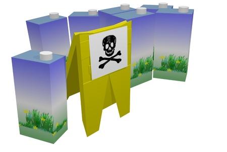 poisoned: poisoned milk Stock Photo