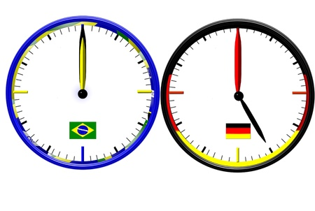 lag: Time Difference 2014   Stock Photo