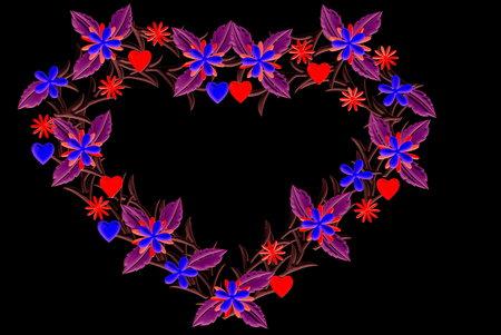 midsummer: Floral Heart midsummer Stock Photo
