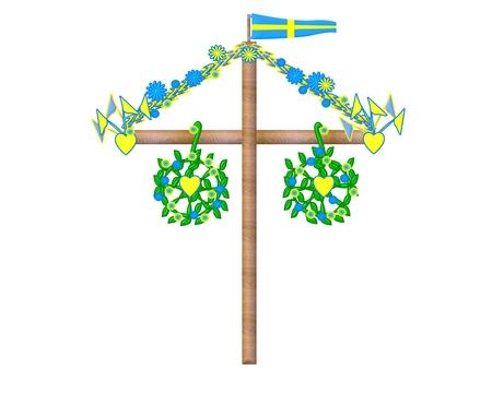 Midsummer symbol sweden Stock Photo - 29314090