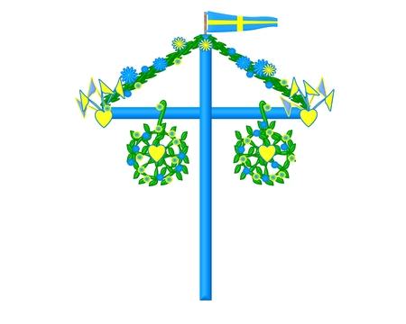 summer solstice:  Midsummer symbol sweden