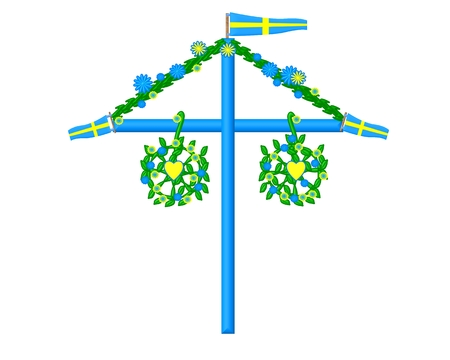 midsummer pole:  Midsummer symbol sweden