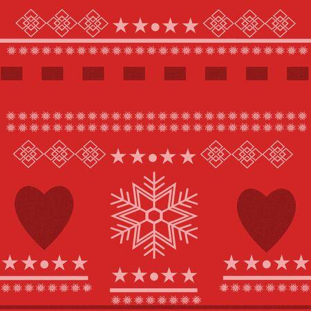 inter: Scandinavian Winter Scene. Beautiful Winter Scene with hearts
