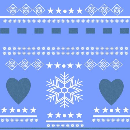 scandinavian winter: Scandinavian Winter Scene. Beautiful Winter Scene with hearts