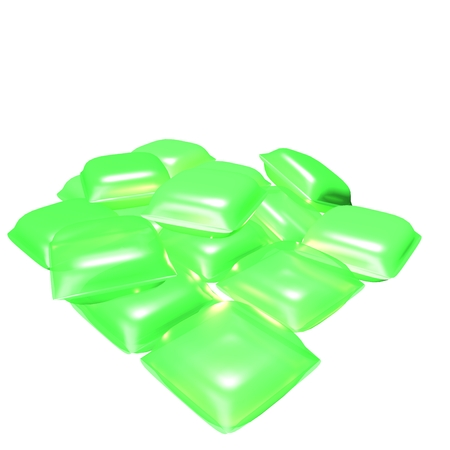dangerous liquid washing tablet Stock Photo