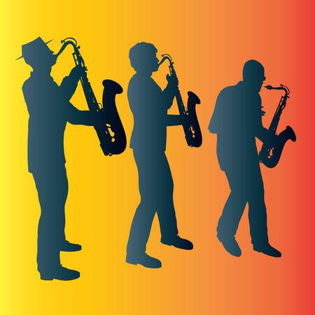 Sax Trio Stock Vector - 4093902