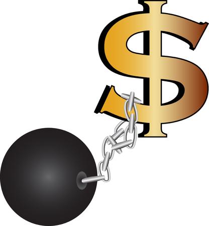 geketend: Ketting dollar