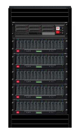 Black Computer Server Cabinet   Stock Photo