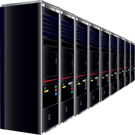 Computer Servers Stock Vector - 4128416