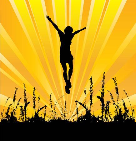 Jumpimg for Joy Illustration
