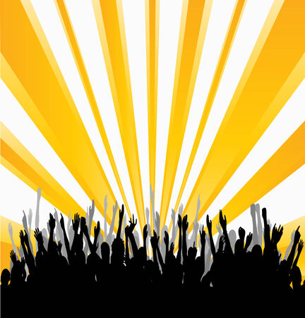 Cheering Audience Vector
