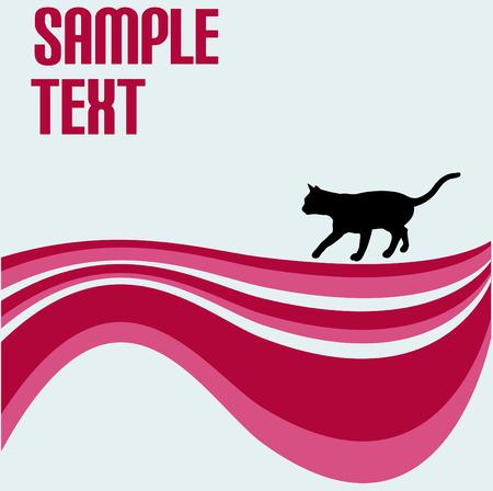 strut: Stray Cat Swirl Vector Background