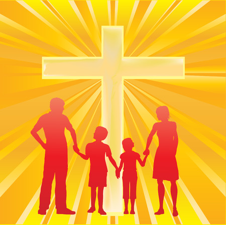 Alpha Family, Cross and Sunburst Stock Vector - 4454893