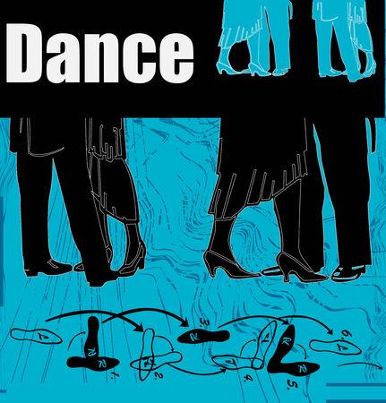 bailes de salsa: Danza Flyer Vectores