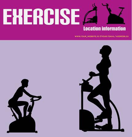 gym equipment: Esercita il  Heath Flyer Club Vettoriali