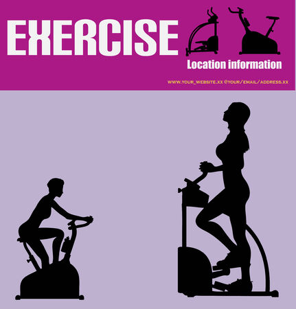 Excercise/Heath Club Flyer Stock Vector - 4454909