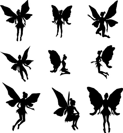 妖精のシルエット