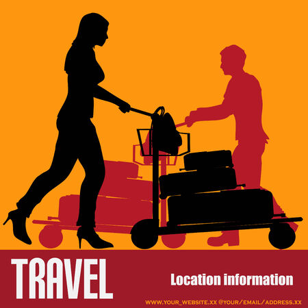 trolley case: Travel Background