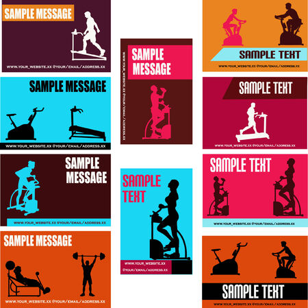 Health/Exercise Business Card Templates Stock Vector - 4502365