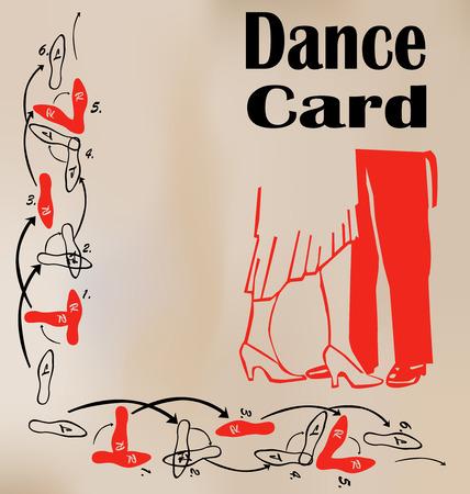 Carte de danse Illustration