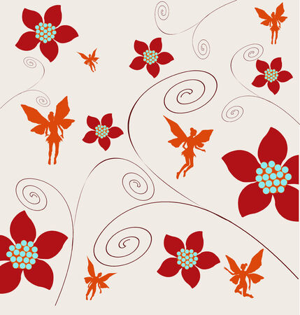 Floral Fairy Background Vector