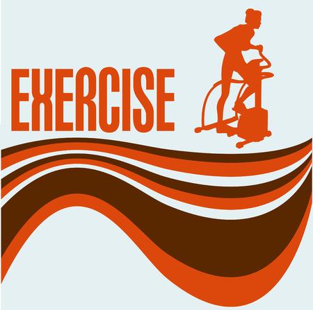 exercise machine: Exercise Flyer Illustration