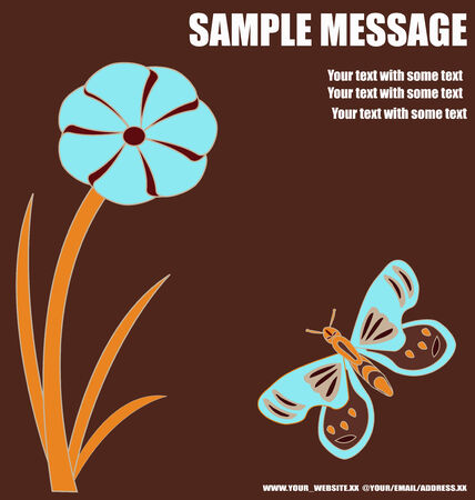flier: Abstract Floral Background