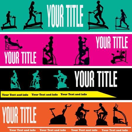 gym equipment: Esercizio Web Banner Templates
