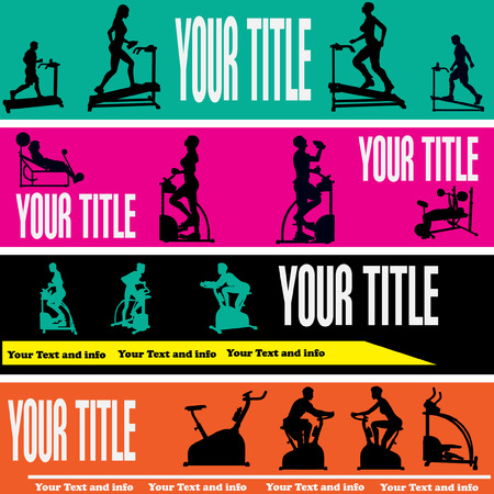 Exercise Web Banner Templates Vector