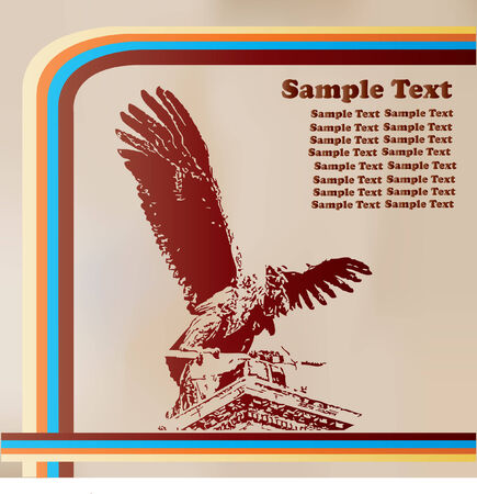 Retro Eagle Background Vector
