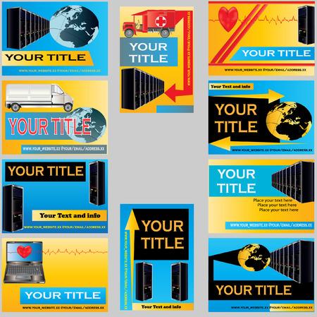 computer support: Modelli di Business Card computer support  Vettoriali