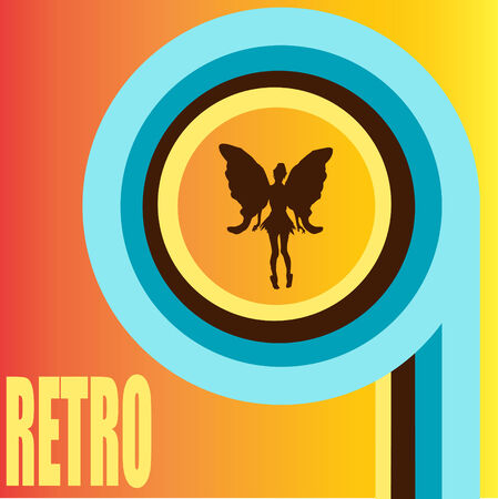 Retro Fairy Background Vector