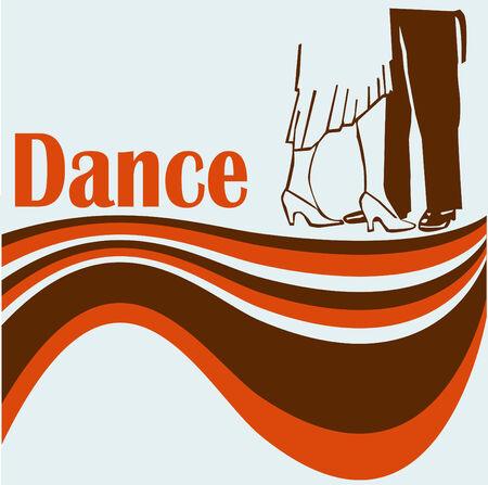 Retro Dance Flyer Vector