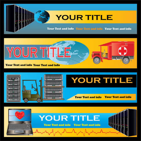 computer support: Computer Support Web Banner Templates Vettoriali