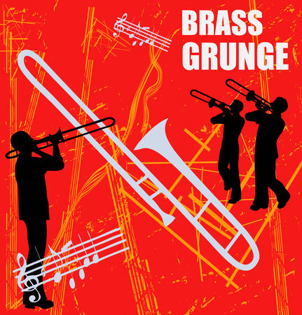 Brass Grunge Background Vector