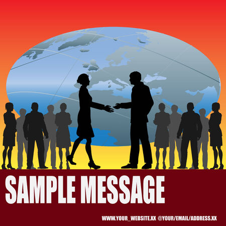 Global Handshake Stock Vector - 4560436