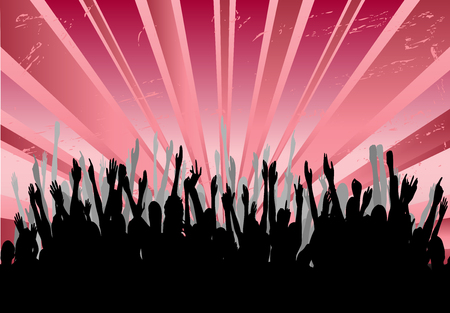 Cheering Audience Vector