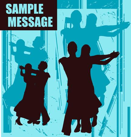 waltz: Dance Message Illustration